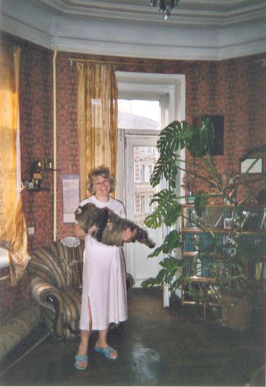 My St. Petersburg SERVAS host, Elena, with her cat