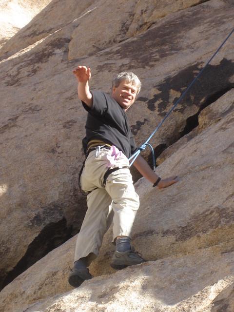 It looks so easy: Scout Troop 85 fearless leader, David Turner