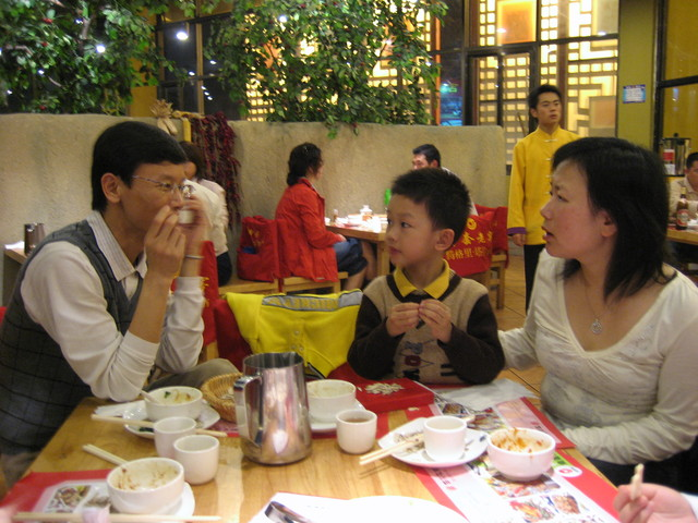 Restaurant gathering with Vancouverite Zhou Jiaming '91