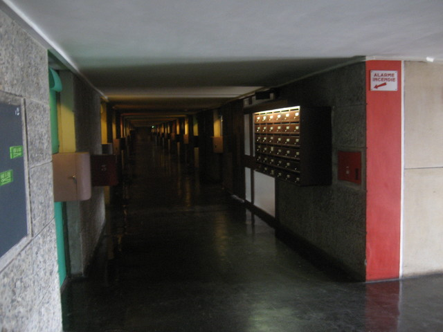 inside a corridor