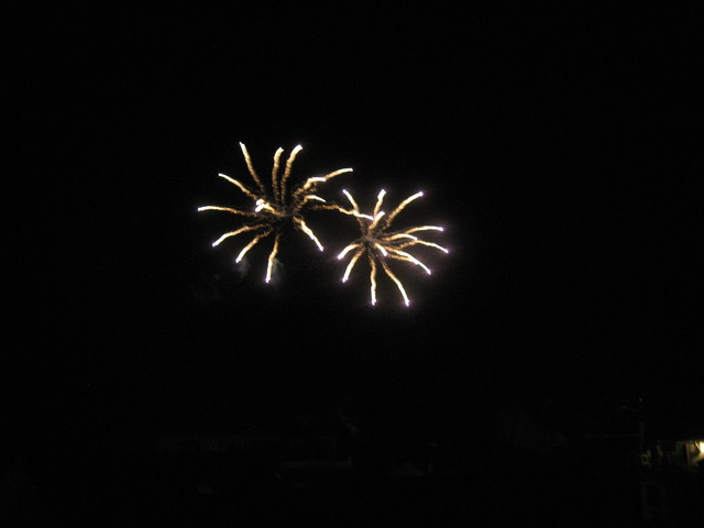 Fireworks occur about twice a month in Sanary during the summer