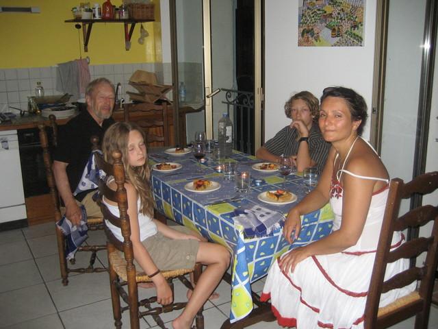Hahn family: Hans-Jürgen, Hahle, David & Ada (SERVAS visitors from Germany)