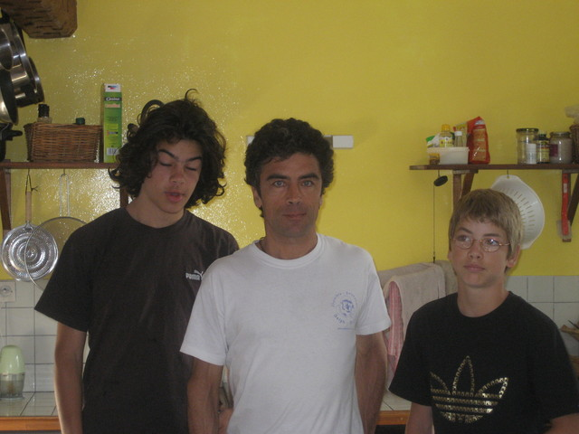 Martin, Michel & Vincent Lagleize, who I had visited with SERVAS in 2004