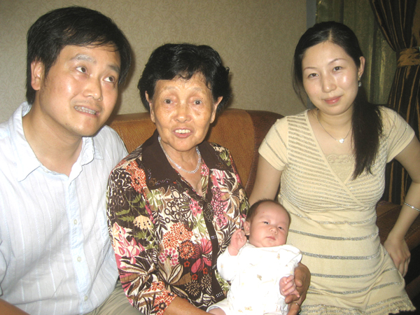 with proud and hardworking grandma