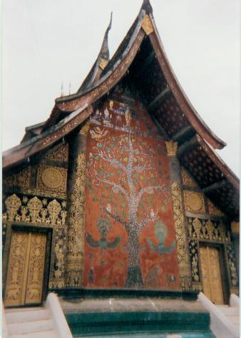 Tree of Life mosaic, Wat Xieng Thong