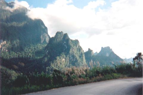 Arriving Vang Vieng