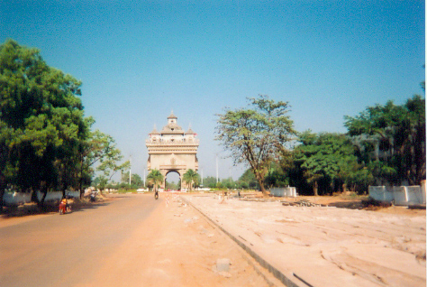 Anousavri Monument Vientiane, Loa (Victory Gate)