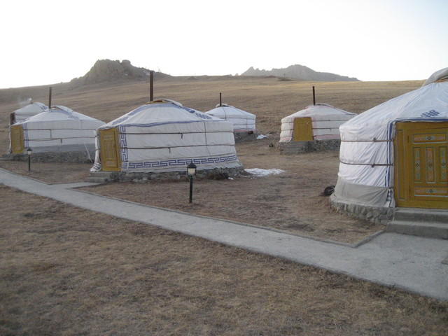 or you can stay in a ger, traditional nomadic accommodation, here upgraded with heat and a bit of comfort.
