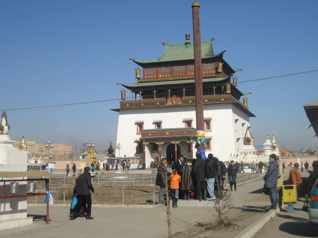 Gandantegchenling Monastery, active and functioning.  Reminds me of Tibet.
