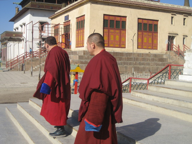 monks in this primarily Buddhist state