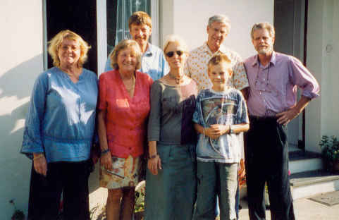 The Begne house at Grandcamp, Normandy with Madeleine Paulin, Anne-Marie, the Bruno Begne family (see 2008 album for their photo 5 years later)